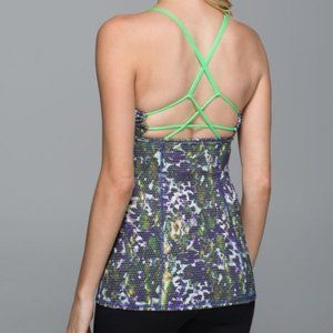 Lululemon Dancing Warrior Floral Tank Top sz 6
